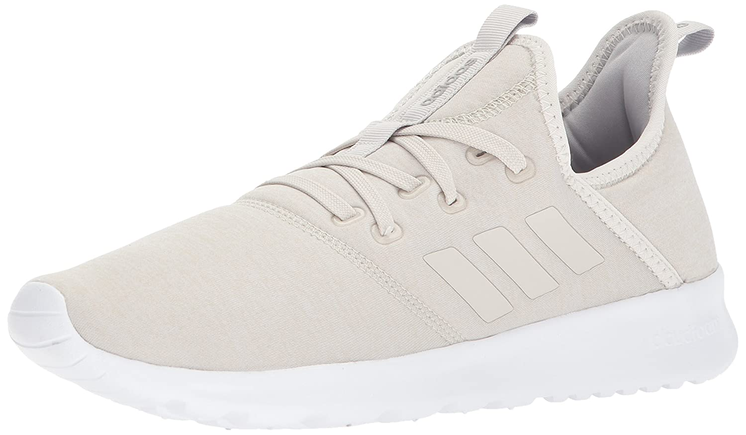 adidas Women's Cloudfoam Pure Running Shoe B0711R2F6G 6.5 B(M) US|Crystal White/Crystal White/Talc