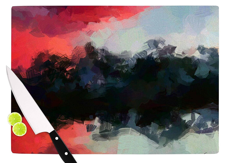 KESS InHouse OC1043ACB01 Oriana CorderoMontserrat Pink Black Cutting Board 11.5 x 8.25 Multicolor