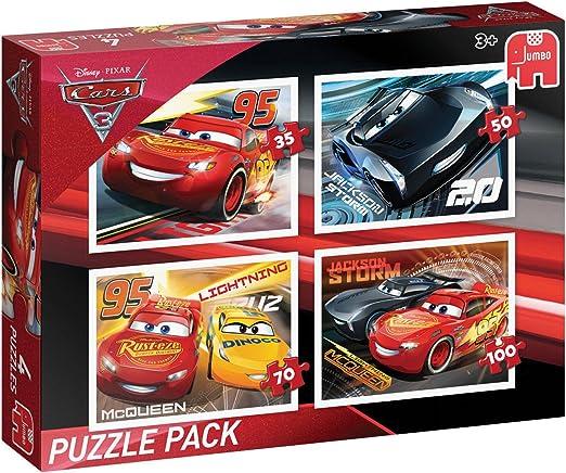 Disney Cars 3: Puzzle Pack Puzzle - Rompecabezas (Puzzle rompecabezas, Dibujos, Preescolar, Disney Pixar Cars, Niño, 4 año(s)) , color/modelo surtido: Amazon.es: Juguetes y juegos