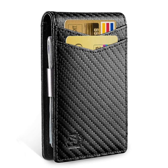 Amazon.com: Billetera delgada con clip para dinero ...