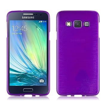 Cadorabo Funda para Samsung Galaxy A3 2015 en Lila - Cubierta Proteccíon de Silicona TPU Delgada e Flexible con Antichoque - Gel Case Cover Carcasa ...