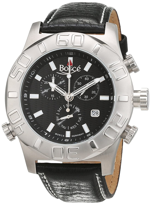BoscÉ Herren-Armbanduhr Analog Automatik Leder BO-HQ22170-858S