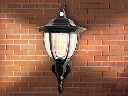 Amazon solar powered wall lamp motion activated security solar powered wall lamp motion activated security lights wireless outdoor lantern beautiful light aloadofball Image collections