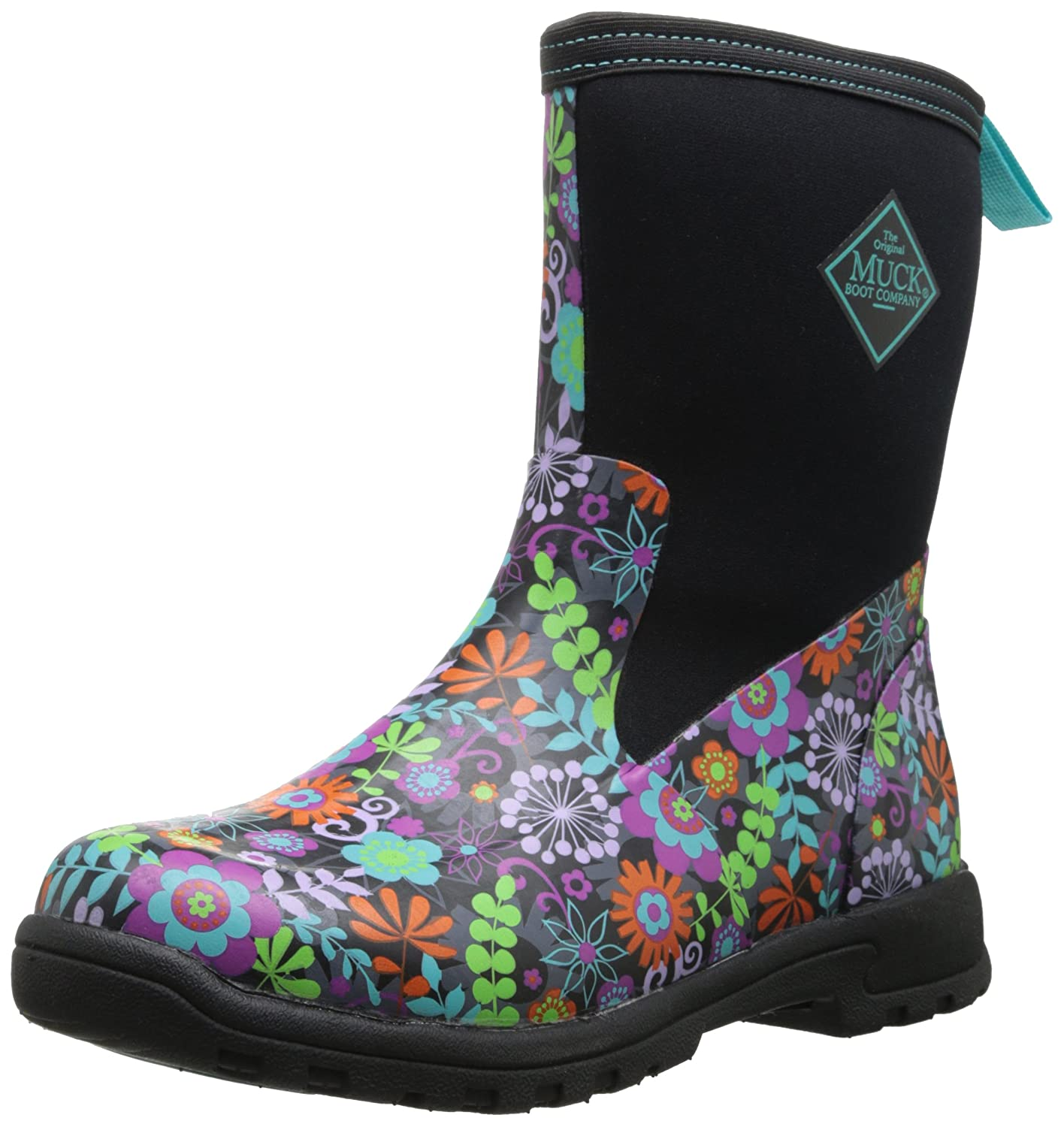 Muckboots Women S Breezy Mid Boot Black Floral 8 M Us