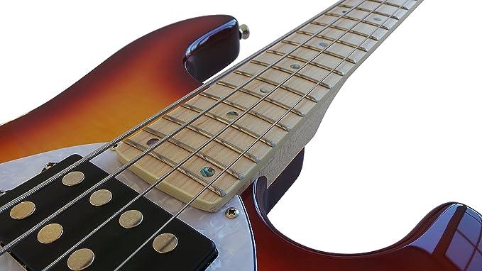 Stingray - bajo eléctrico 4 cuerdas para diestros doble tamaño completo Live Humbucker Pickups HasGuitar Pack: Amazon.es: Instrumentos musicales