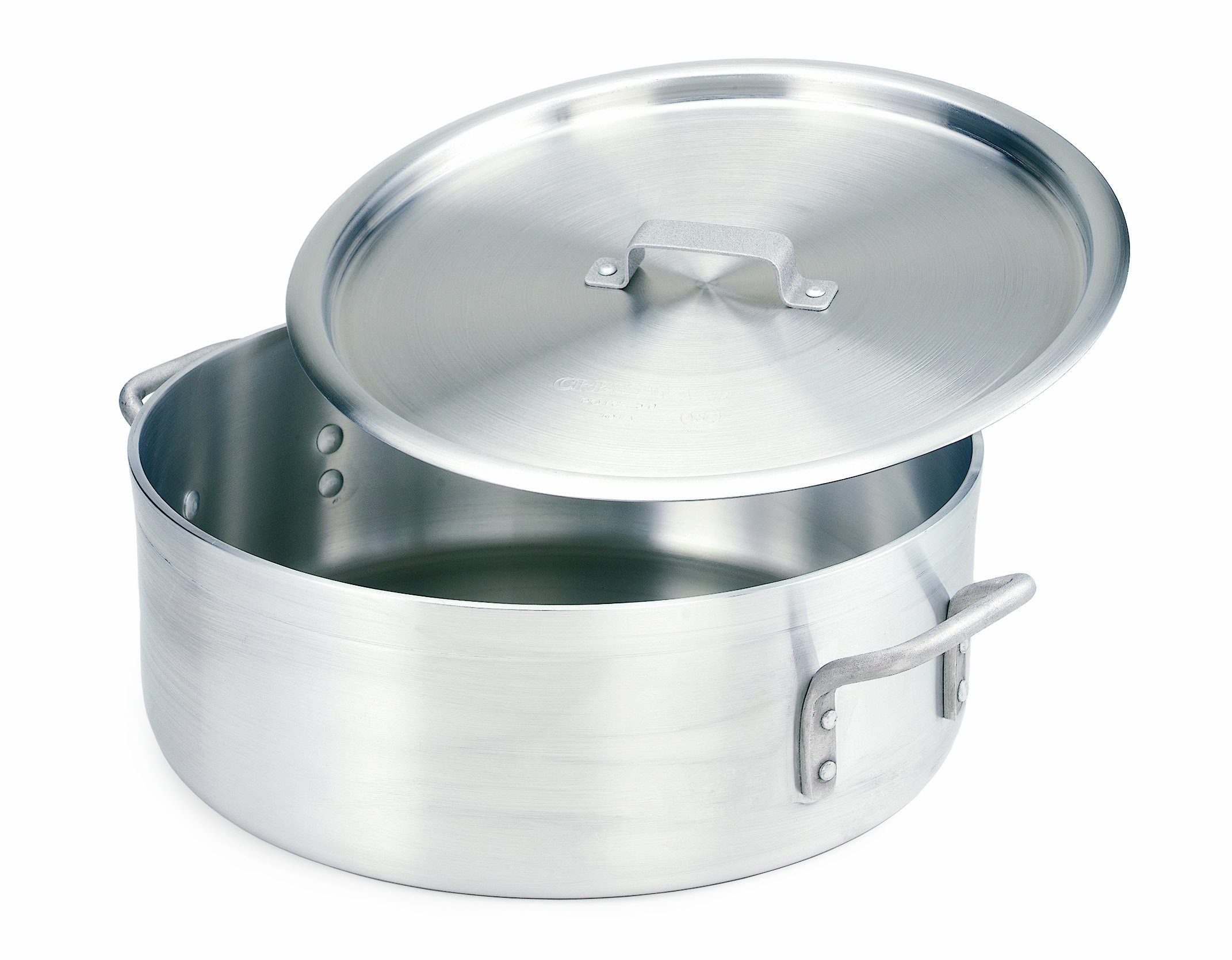 Crestware Extra Heavy Weight Aluminum Braziers with Pan Covers, 10 Quart by CRESTWARE