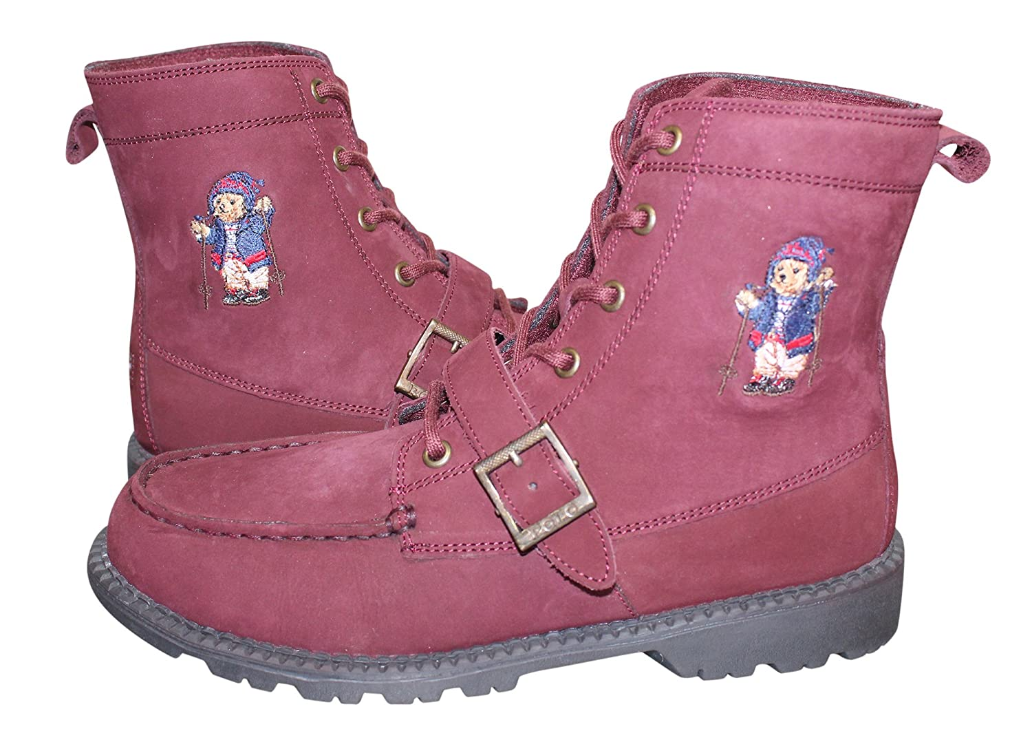 Polo Ralph Lauren  Ranger Hi Ii Fashion Boot B076ZZ9LF6 5 Medium US Big Kid|Burgundy Nubuck