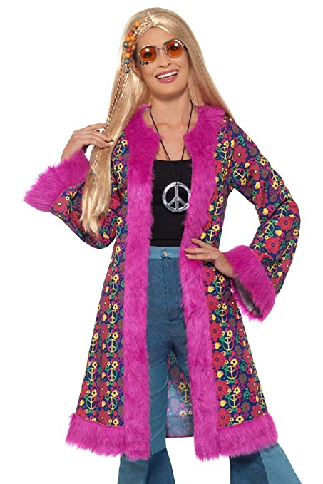 Hippie Dress | Long, Boho, Vintage, 70s Smiffys 60s Psychedelic Hippie Coat $45.17 AT vintagedancer.com