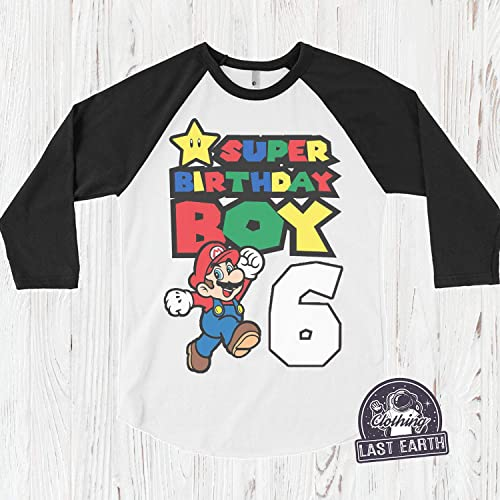 Super Mario Birthday T Shirt Personalized Kids Party Shirts 1st 2nd 3rd 4th 5th 6th