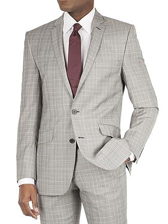 Ben Sherman - Chaqueta de traje - Cuadrados - para hombre gris ...