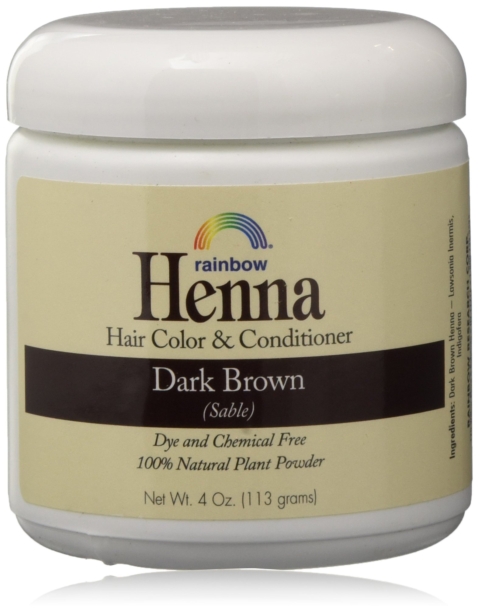 Rainbow Henna Persian Dark Brown Hair Color 4 Oz, (2 pack) by Colors of Rainbow