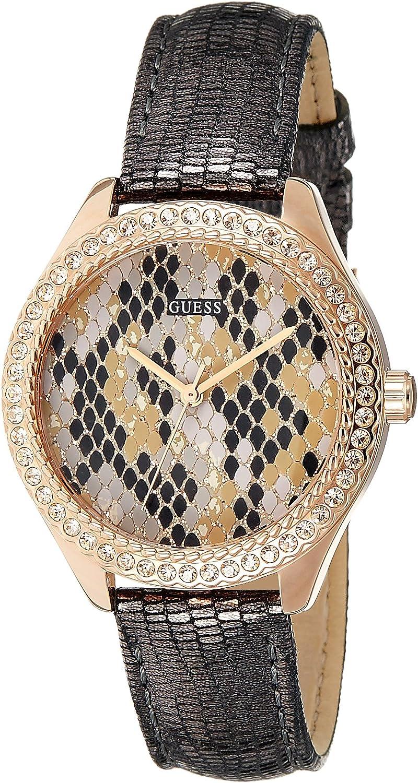 Guess Reloj analógico para Mujer de Cuarzo con Correa en Piel W0626L2