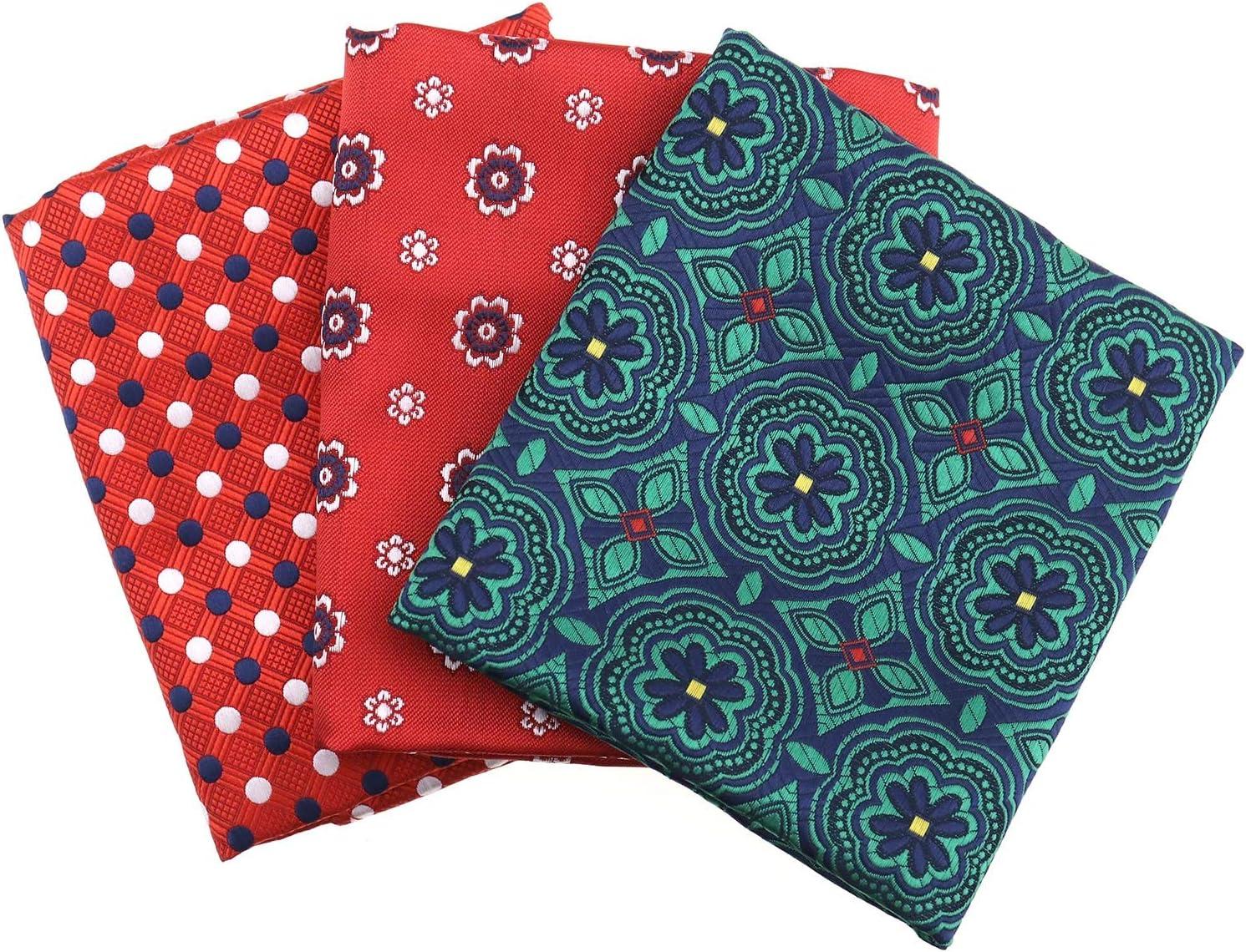 110 St/ücke Einstecktuch Plaid M/änner Anzug Tasche Handtuch Taschentuch Taschent/ücher