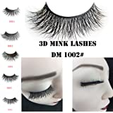 34 Model LUXURY 3D Mink Fur False Eyelashes Extensions 100% Hand Made 1Pair (DM1002) by Grace Beauty