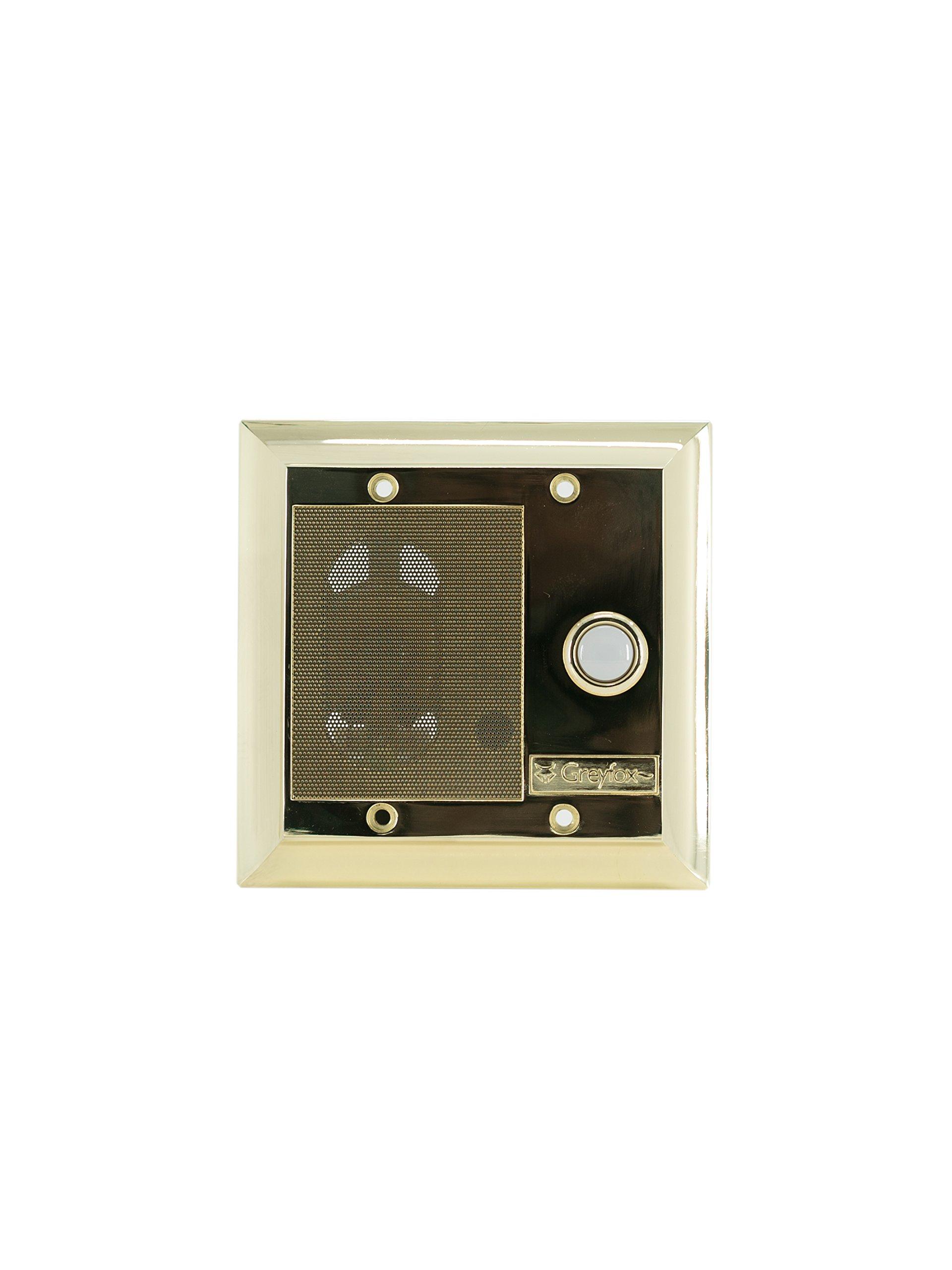 Legrand - On-Q F7596SB Intercom Door Unit, Weather Resistant, Shiny Brass