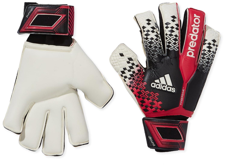online retailer 77132 5c8a5 adidas Predator Fingersave Goalkeeper s Gloves Multi-Coloured  Black Wht Vivber Sol Size 9.5  Amazon.co.uk  Sports   Outdoors