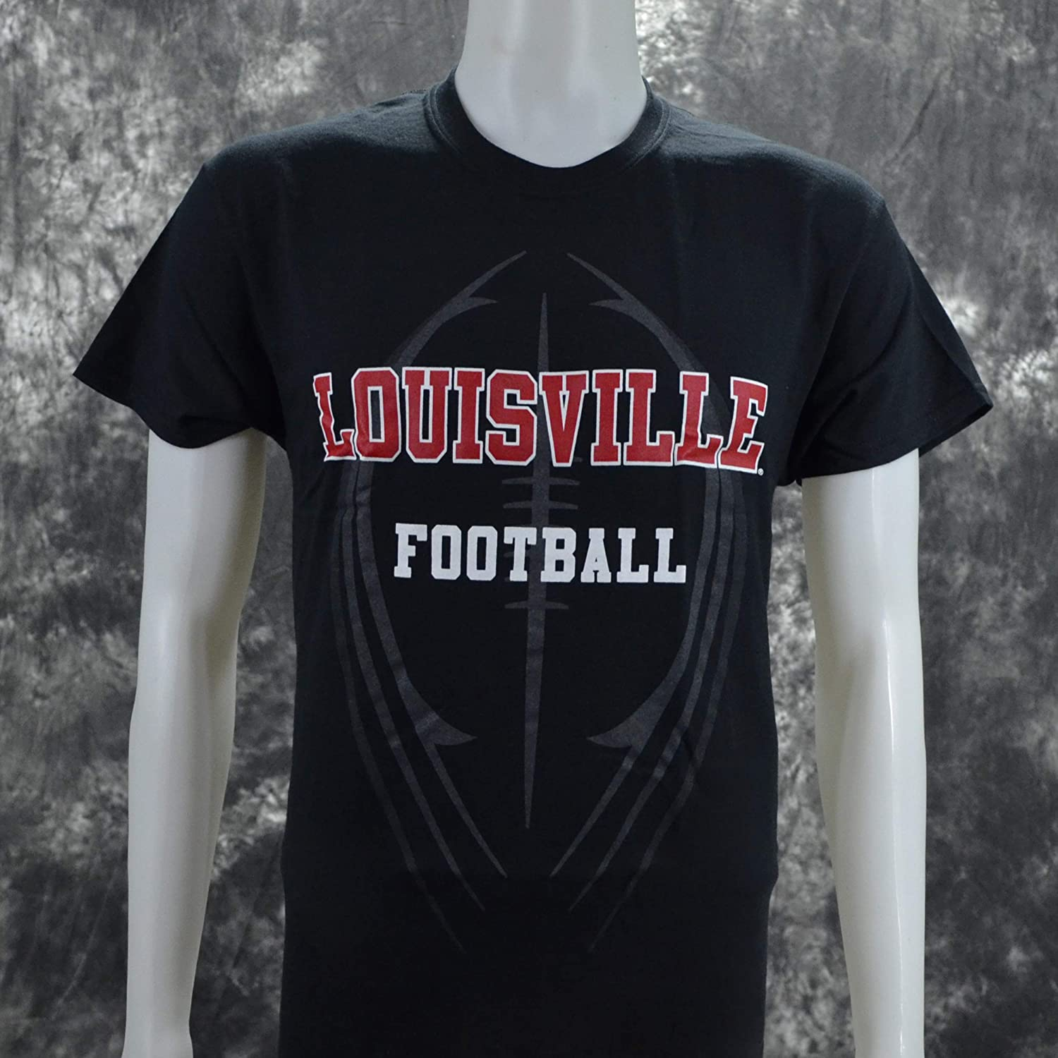 NCAA University of Louisville UL Love on Short Sleeve Black T Shirt