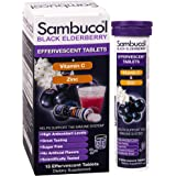Sambucol - 黑接骨木浆果原始的惯例+维生素C +锌 - 15 冒泡片剂