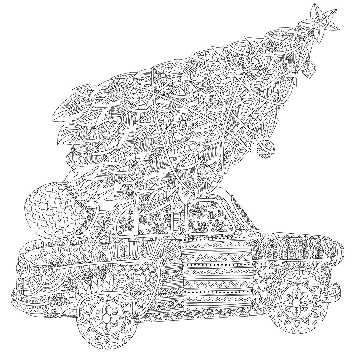 Kaisercolour Coloring Poster 27''X19''-Home For Christmas
