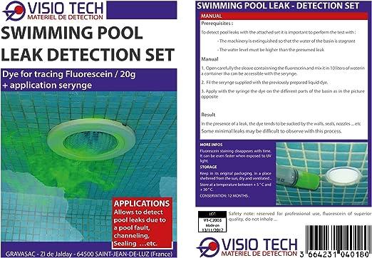 Visio Tech – Set de detección de fugas de piscina: Amazon.es ...