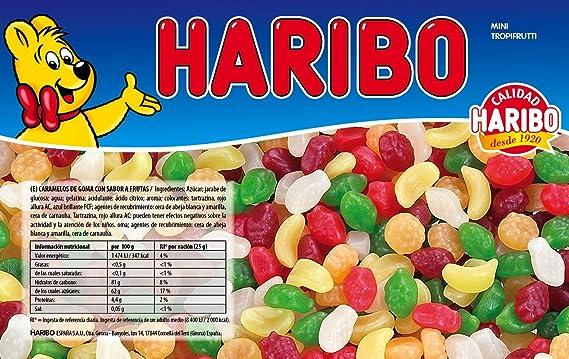 Haribo - Mini Tropifrutti - Caramelos de goma - 1 kg - [pack de 2]: Amazon.es: Alimentación y bebidas