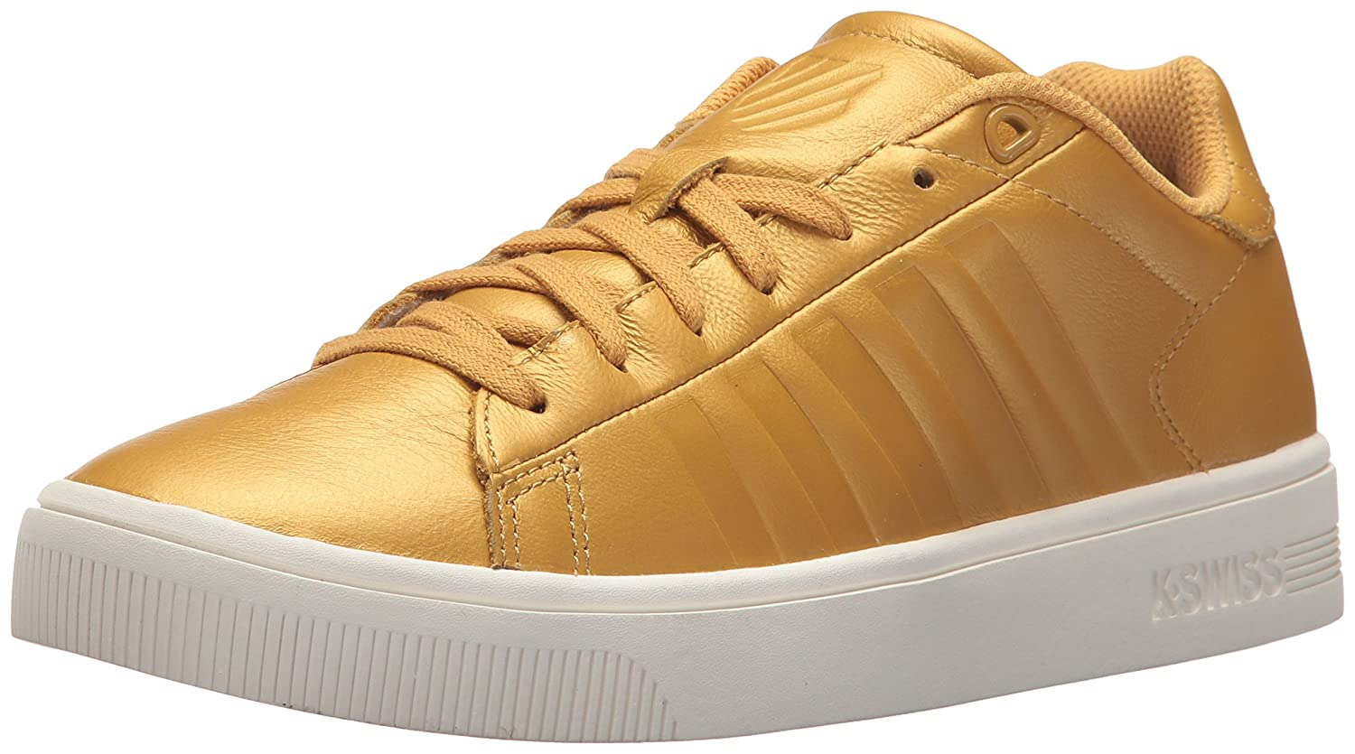 K-Swiss Women's Court Frasco Sneaker B0728CNXXY 5.5 B(M) US|Bright Gold/Marshmallow