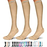 SB SOX 3-Pair Compression Socks (15-20mmHg) for Men & Women – Very Comfortable Socks for All Day Wear!