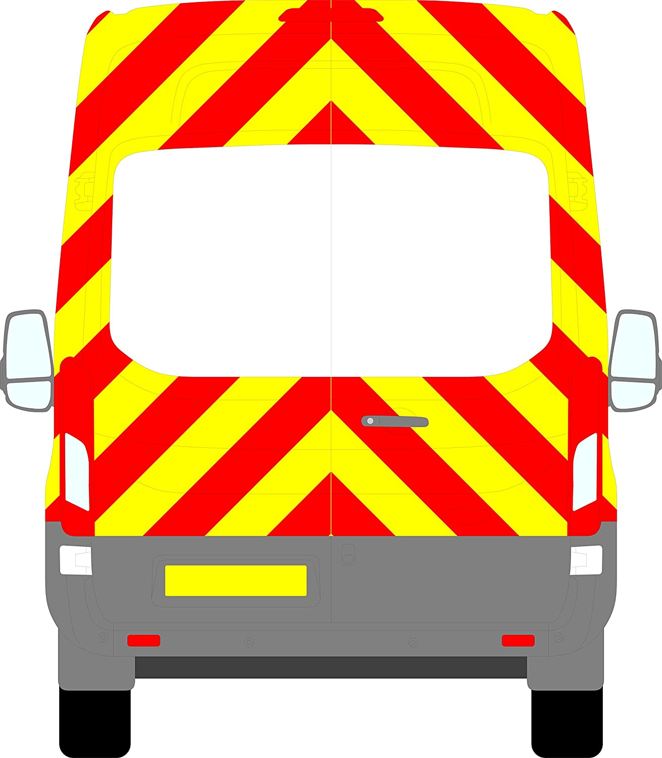 Fleet Design Ford Transit H3 Chevrons High Roof 2014 - Present (Three Quarter/Engineering)