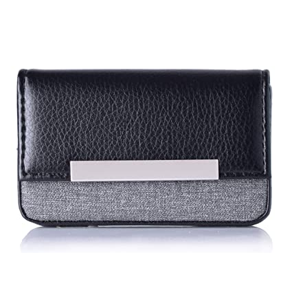 Maxgear leather business card holder case for men or women name card maxgear leather business card holder case for men or women name card case holder with magnetic colourmoves