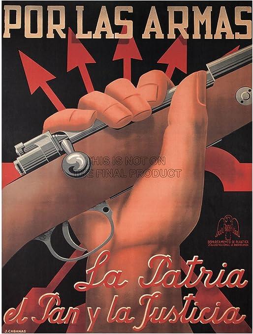 Guerra Civil Española Propaganda fascist Nacionalista Rifle España Cartel Retro 2868py: Amazon.es: Hogar