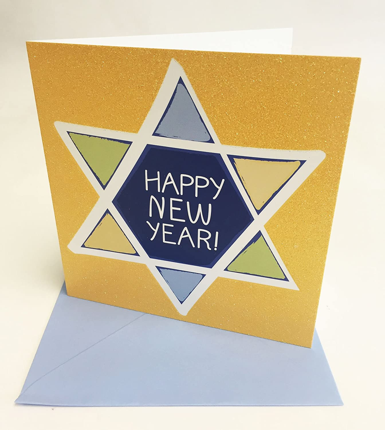 Jewish New Year Greeting Card English Hebrew Shana Tova Rosh