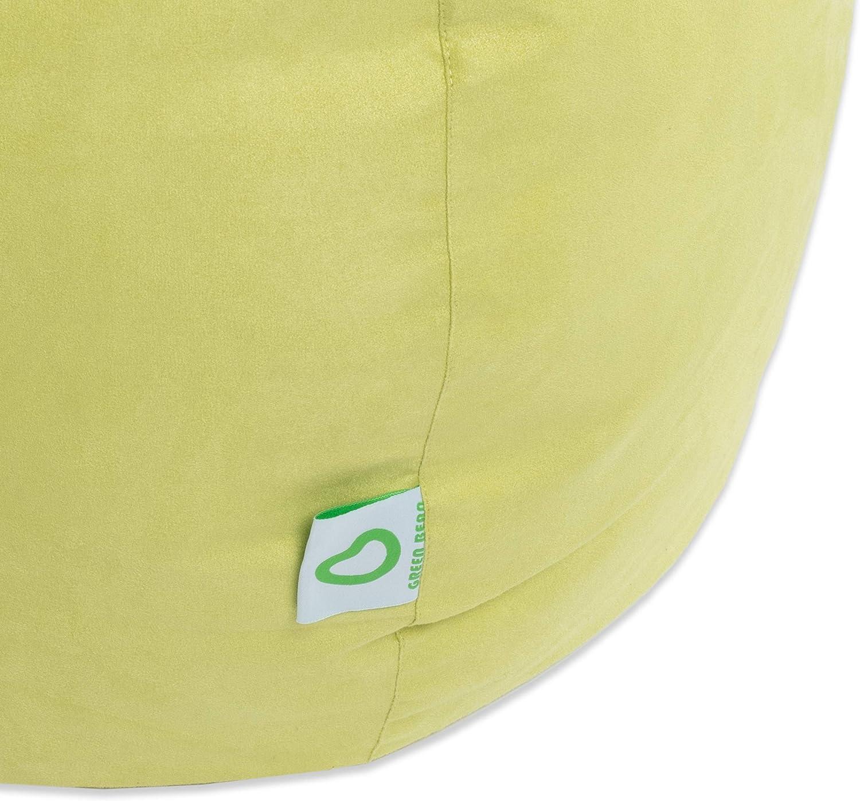 Beige Scuro Green Bean /© Drop Beanbag 60x60x90 cm Certificato 220Litro di riempimento in EPS Perline Indoor Beanbag
