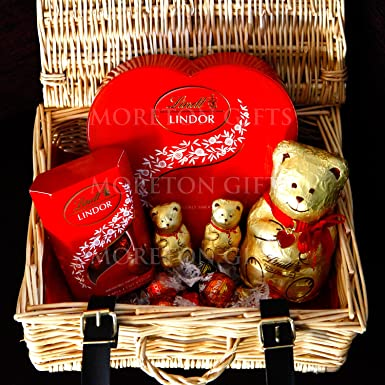 lindt chocolate luxury love hamper by moreton gifts perfect romantic present for valentines day
