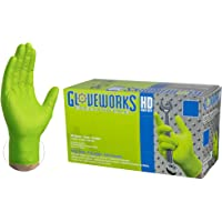AMMEX - GWGN46100-BX - Guantes Desechables de Nitrilo,Grande, Verde (Caja De 100)