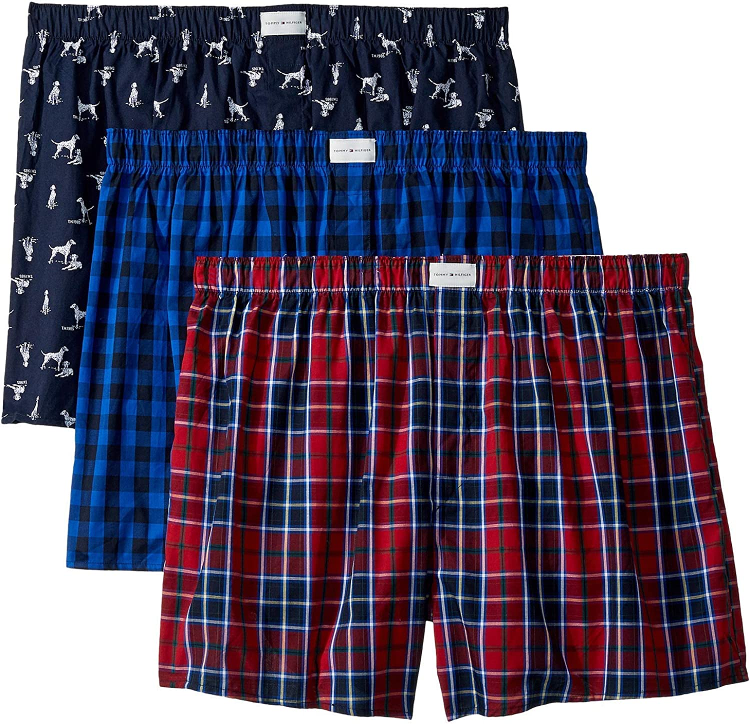 Tommy Hilfiger Mens Underwear Multipack Cotton Classics Woven Boxer