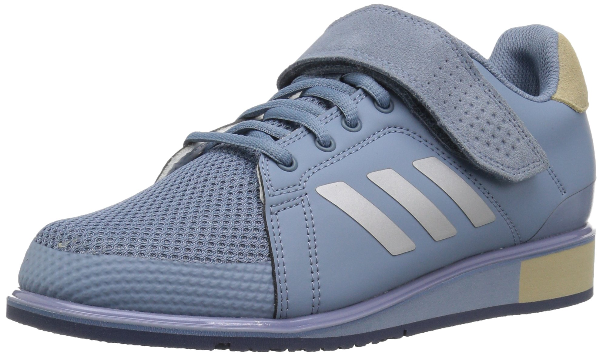 adidas Men's Power Perfect III. Cross Trainer Grey/Metallic Silver/raw Gold, 4 M US