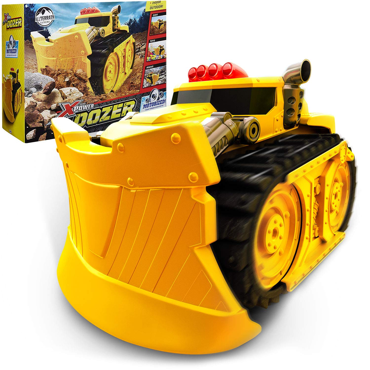Xtreme Power Dozer - Motorized Extreme Bulldozer Toy Truck for Toddler Boys & Kids Who Love Construction Toys - Plow Through Dirt, Toys, Wood, Rocks - Indoor & Outdoor Play - Spring Summer Fall Winter by Xtreme Power Dozer