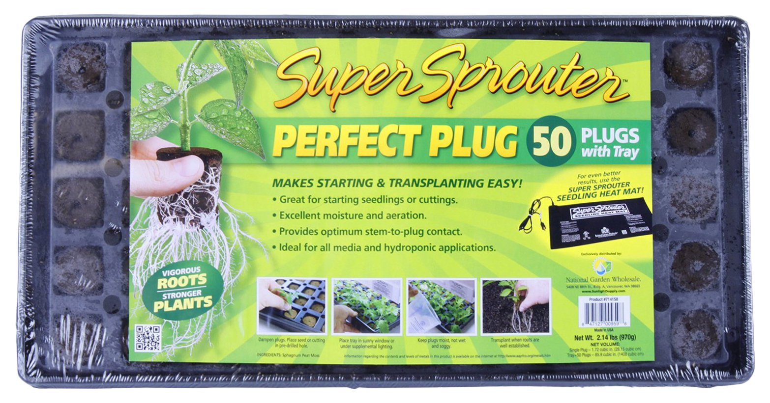 Super Sprouter Perfect Plug Custom Blend Propagation Tray
