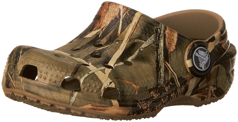 469593163e704 Amazon.com | Crocs Classic Realtree V2 (Toddler/Little Kid), Realtree  Khaki, 1 M US Little Kid/ 3 M US Women's | Clogs & Mules