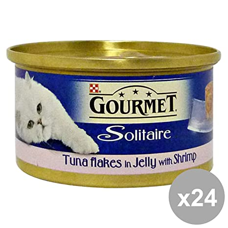 Gourmet Purina Juego 24 dadini trota-Verdure 85 gr. Comida para Gatos