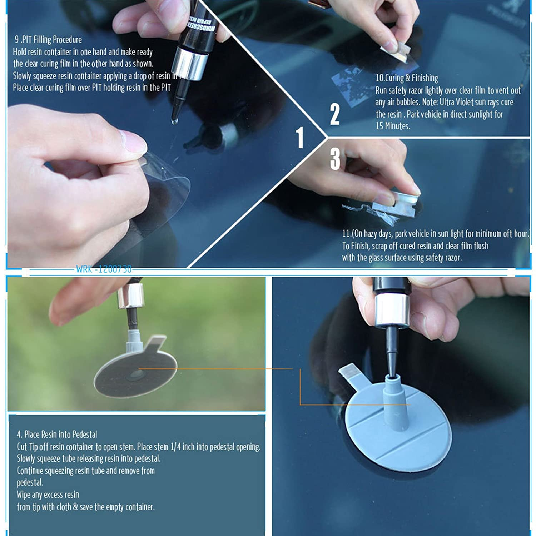 Genuine DIY Chip Windshield Premium Kit /& Windscreen Crack P Crack Premium Repair Kit /& Wind Screen Screen Auto Glass Glass Wind Screen