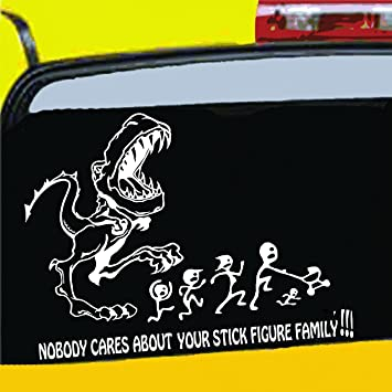 Amazoncom YOUR STICK FIGURE FAMILY Was Delicious Decal TRex - Vinyl decals for your caramazoncom your stick family was delicious trex vinyl decal