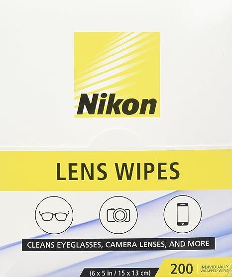 Nikon prehumedecidas lente toallitas de limpieza - limpia ...