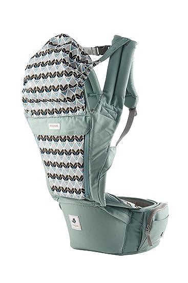 2d9a2562d0e Amazon.com   Pognae Orga Plus Hipseat Front Backpack Carrier Ergonomic  Design 100% Organic Cotton (Cabbage)   Baby