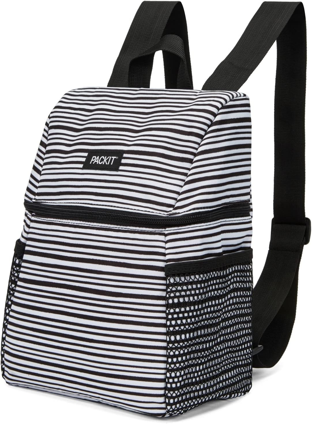 PackIt Everyday Backpack, Wobbly Stripes Freezable Lunch Bag, one size