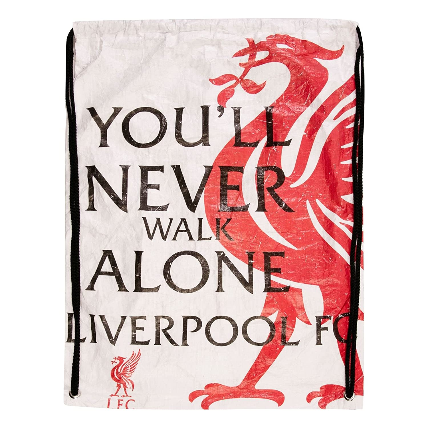 Liverpool FC LFC Tyvek Drawstring Backpack Official