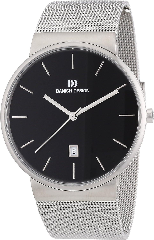 Danish Design 3314409 - Reloj analógico de Cuarzo para Hombre con Correa de Acero Inoxidable, Color Plateado