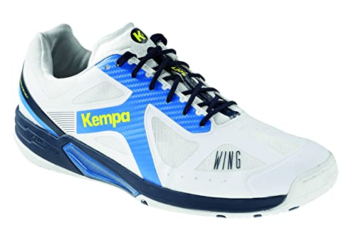 Kempa Wing Lite, Scarpe da Pallamano Uomo, Bianco (Blanco/Azul Fair/Azul Mar 000), 42 EU
