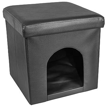 38 x 38 x 38 cm plegable otomana Hideaway de mascota Perro Gato Casa Suave Acogedor
