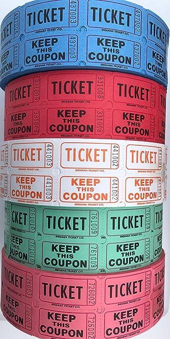 amazon com raffle tickets 5 rolls 50 50 split the pot office